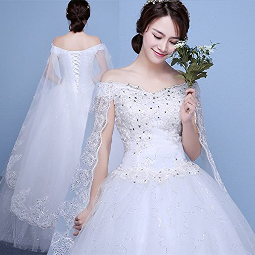 UU Hochzeitskleid Braut Wort Schulter Hochzeitskleid Gro?en Gr??e Hochzeitskleid War Dünne Prinzessin Prinzessin Puff Rock Hochzeitskleid,EIN,S