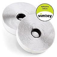vimtey 2,5cm selbstklebend weiß Haken und Schlaufe