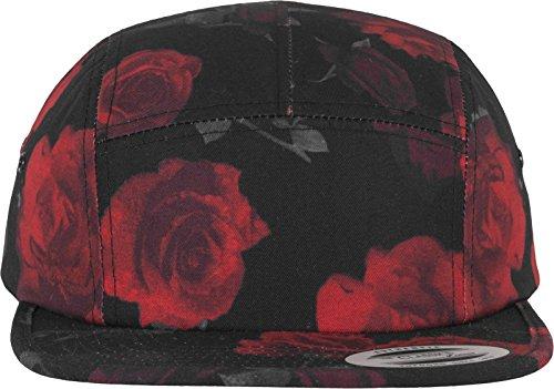 Flex fit Casquette Roses Jockey BLK/Rouge Taille Unique