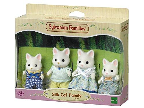 Sylvanian Families 3143 - Seidenkatzen Familie Seidenthal, Puppenfamilie