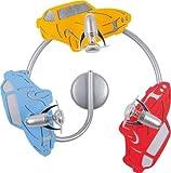 Coole Kinderleuchte in Blau Rot 3x E14 bis 40 Watt 230V Deckenleuchte Kinder aus Sperrholz Kunststoff & Metall mit Fahrzeug Motiv Kinderlampe für Schlafzimmer Kinderzimmer Kinderzimmer Lampe Leuchten