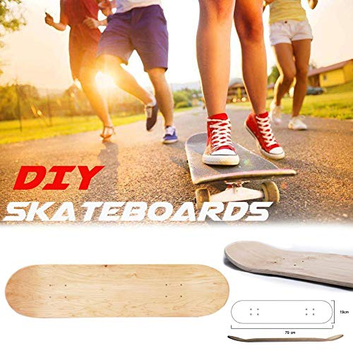 8 Zoll 8 Schicht Skateboards Deck Konkave Skateboards Maple Wood Blank Double Natürliche Skateboard Board Cruiser Holz Deck