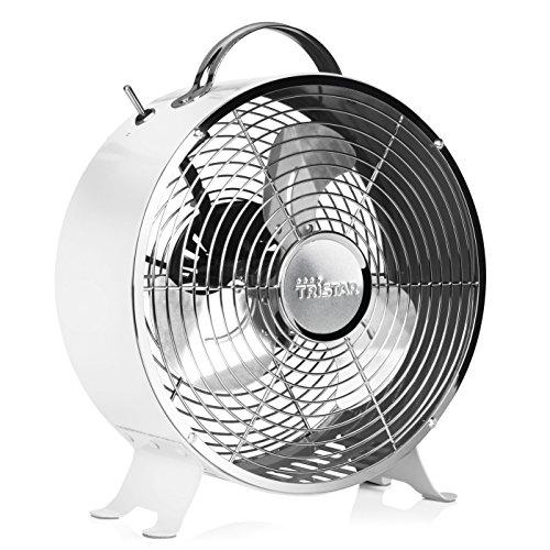 Ventilatore da tavolo Retrò Tristar VE-5967 – 25,4 cm – Bianco