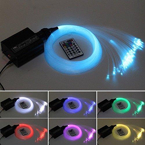 CHINLY 16W RGBW LED LWL Licht Sterndeckeninstallationssatz Lichter 150pcs 0,75mm 2m optische Faser Beleuchtung + RF 28key - Lichtmaschine Geschwindigkeit