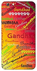 Gandhaa (A sweet smelling) Name & Sign Printed All over customize & Personalized!! Protective back cover for your Smart Phone : Moto G3 ( 3rd Gen )
