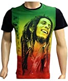 Time Is Money Bob Marley Hip Hop Retro Tees Rap Urban Bling Herren T-Shirts - Schwarz, Small