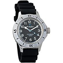 Vostok Amphibian 120811 - Reloj de pulsera automático, reloj de buceadores militares rusos 2416B/