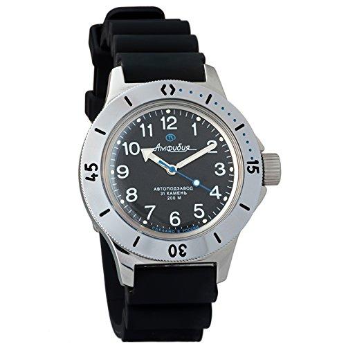 Vostok anfibio 2415120811russo militare orologio meccanico