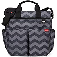 Skip Hop Duo Signature Changing Bag (Black /Grey, Tonal Chevron)