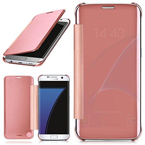 MoEx Samsung Galaxy S7 Edge Hülle Transparent TPU [OneFlow Void Cover] Dünne Schutzhülle Rosé-Gold Handyhülle für Samsung Galaxy S7 Edge Case Ultra-Slim Handy-Tasche mit Sicht-Fenster