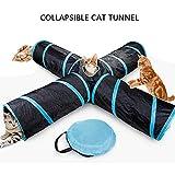 gatto giocattolo gatto tunnel, raggruppabili 4-way gioco tunnel con deposito di borsa, interactive divertente tunnel per gatti/cucciolo/coniglio, interna e esterna