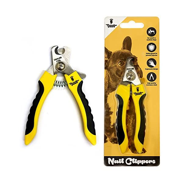 Thunderpaws Professional-Grade Dog Nail Clippers with Protective Guard, Safety Lock and Nail File - Suitable for Medium and Large Breeds 1