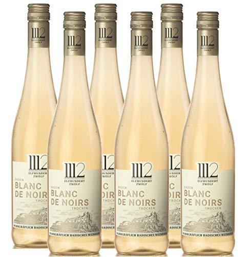 1112 Blanc de Noirs Trocken 2018 - Weißwein der Marke Elfhundertzwölf (6 x 0,75l)