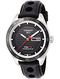 T100.430.16.051.00 Tissot Men's 42mm Black Leather Band Steel Case Sapphire Crystal Automatic Analog Watch