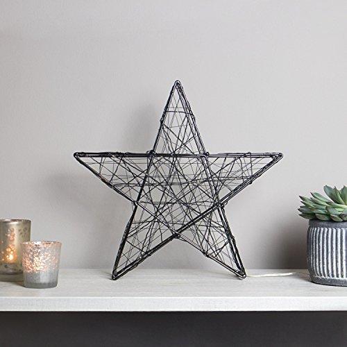 onsleuchte / Weihnachtsbeleuchtung aus Metall in Schwarz mit 140 Micro LED´s | Lichtfarbe: warm weiß|Form: Stern (Schwarze Und Weiße Tischdekoration Ideen)