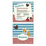 Einladungskarten zum Geburtstag (50 Stück) bayrisch Oktoberfest Einladung Bayern Karten