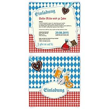 Einladungskarten zum Geburtstag Oktoberfest 40 Stück bayrisch