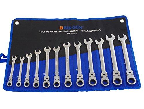 Gelenk-Maul-Ring-Ratschen-Schlüssel-Satz 12-tlg 8-19 mm Gabel-Schlüssel