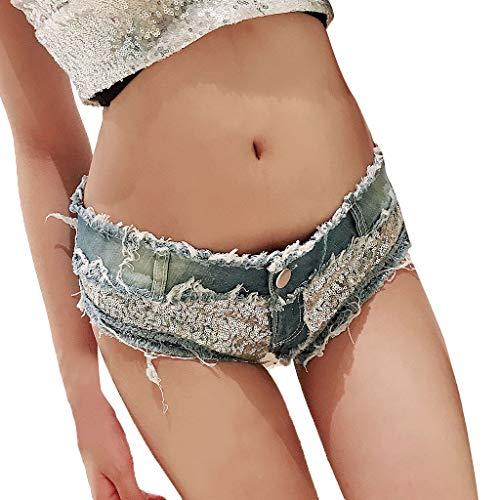 PorLous Cowboy Shorts, Damen Mode Sexy Frau Denim Jeans Niedrig Taille Super Mini Kurze Hose