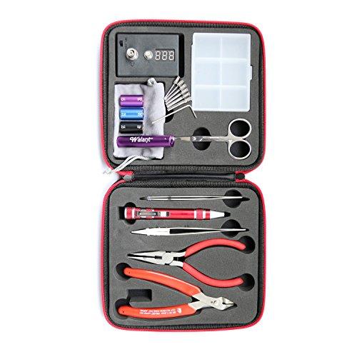 DIY Wicklung Jig Kit Werkzeug Set: Spitzzange & Schere & 3 IN 1 DIY Spule Jig & Keramik Pinzette & Krummsäbel Pinzette Aus Rostfreiem Stahl & 8-in-One-Multi-Tool Pen & Widerstand Spannungsprüfer & Seitenschneider & Flannelette Beutel & Kunststoff Box & Tragbare Zipper Etui, Machen 1.5mm 2.0mm 2.5mm 3.0mm 3.5mm 4.0mm Spule ()