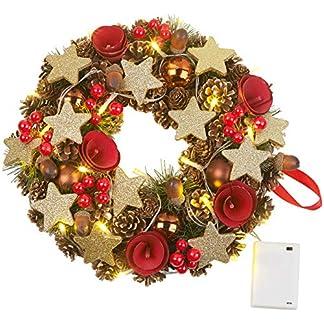 Britesta-Trkranz-Weihnachtskranz-20-warmweie-LEDs-Timer-batteriebetrieben-28-cm-Dekokrnze