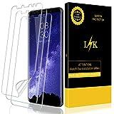 L K [3 Pièces Protection Écran pour Samsung Galaxy S9 Plus, HD Clair Doux Film Pas Verre [sans Bulles] [Couverture complète] [Compatible avec Coque] [Pas de Bords levés] FilmProtection