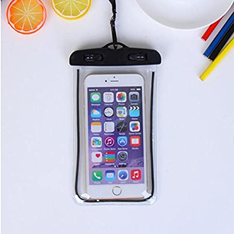 For Imperméable Phone Case,Maetek PVC Lumineux Case Cover Imperméable Cell Phone Sac à sac sec for Smartphone up to 6 inches-Black