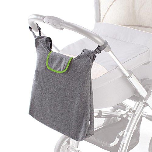 DIAGO 30076.75276 Deluxe Kinderwagentasche grau/grün