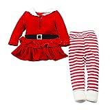 Brightup Abito Natale Bambina, Bambino Bambine Babbo Natale Vacanze Vestito Natale Leggings