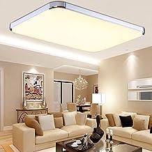MCTECH 48W LED Warmweiss 2700K 3500K Deckenleuchte Modern Deckenlampe Flur Wohnzimmer Lampe Schlafzimmer