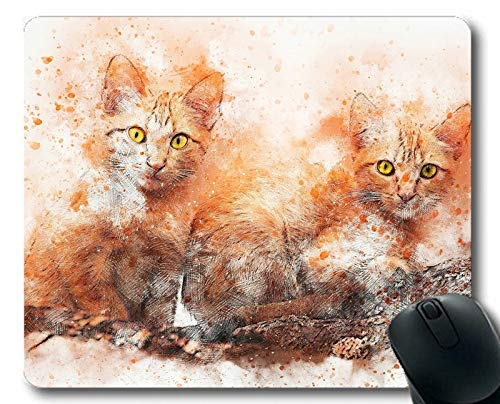 Gaming-Mäusematte, Haustier-Katzenmalerei-Kunstmauspad, Mäusematte für Computer cat194