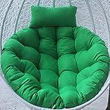 YB&GQ Cuscino Sedia Oscillante,Rotondo Soffici Cotone Tappetino per Sedili Cuscino,Vimini Rattan Uovo Appeso Sedia Pad Cuscino Amaca per Patio Giardino Verde Diametro105cm(4x41inch)