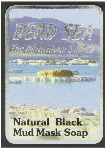 J Malki Dead Sea Natural Black Mud Mask Soap 90g