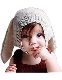 Tuopuda Cappello Invernale Bambino Neonato Cappello con Orecchie Cappello  Pile Berretto Maglia d95d5c281e1f