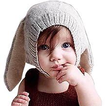 tuopuda Gorras Invierno Bebe Niño Niña Sombrero Orejas de Conejo Gorro de  punto 0cbc404f721