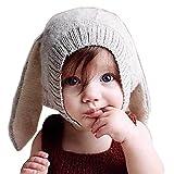 Tuopuda® Babymütze Winter Mädchen Jungen Wintermütze mit Ohren Kinder Mütze Strick Hut Warm (grau)