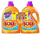 Sole con Vanish, Detersivo per Lavatrice Liquido, 2 Confezioni da 40 Lavaggi