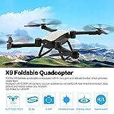 WOSOSYEYO X9 RC Drone 2.4G FPV Faltbare Quadcopter 0.3MP WiFi Kamera Höhe halten, grau