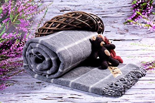 Vendita coperta in 100% pura lana merino, size doppio coperta 160 x 200 cm naturale e caldo coperta. regalo perfetto ! prodotto naturale. ecru coperta