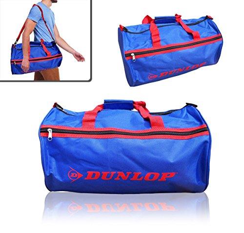 Borsone due maniglie sport viaggio mare DUNLOP bagaglio a mano 50 x 30 x 22 cm vari colori (blu e rosso)