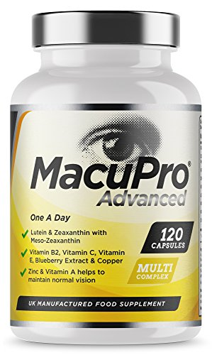 Advanced Macu Eye Care Supplement - 120 Capsules For Macular Health - Zeaxanthin, Meso Zeaxanthin, Lutein & Blueberry Extract Plus Essential Vitamins and Minerals Scientifically Proven to Help Maintain Normal Vision - Large 4 Months Supply - Vegan & Vegetarian Friendly Test