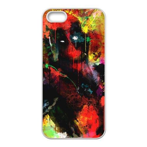 Deadpool coque iPhone 5 5S Housse Blanc téléphone portable couverture de cas coque EBDXJKNBO12177