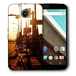 Snoogg Evening Roads Printed Protective Phone Back Case Cover For LG Google Nexus 6