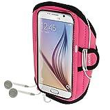 igadgitz Wasserabweisend Pink Sports Jogging Armband Laufen Fitness Oberarmtasche für Samsung Galaxy S6 SM-G920 & S7 SM-G930
