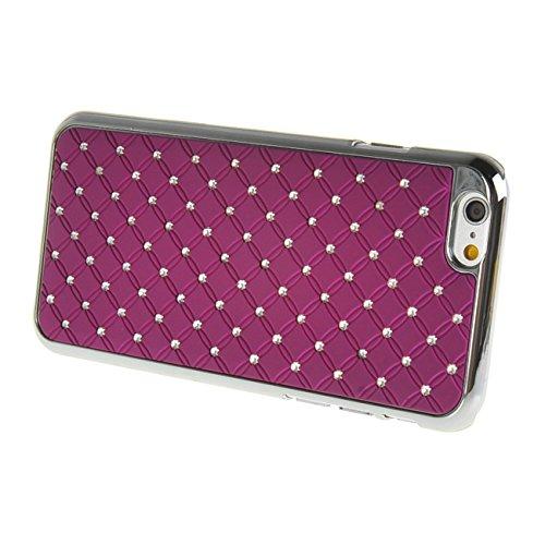 "MOONCASE iPhone 6 (4.7"") Case Bling Chrome Hard Shell Cover Housse Coque Etui Case pour Apple iPhone 6 (4.7"") Rouge Violet"