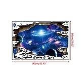 KINTRADE 3D Starry Planet Wand Wandaufkleber Weltraum Welt Wandaufkleber Universum Galaxy Planet Dekoration Vinyl Kunst Aufkleber
