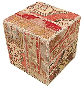 patchwork hocker ottoman 50x50 orientalischer k che haushalt. Black Bedroom Furniture Sets. Home Design Ideas