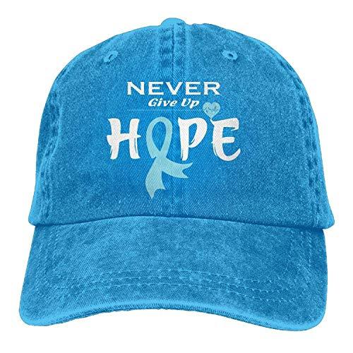 2018 Adult Fashion Cotton Denim Baseball cap Prostate Cancer Awareness-1 Classic Dad Hat Adable Plain cap,Un codice,Royal Blue,
