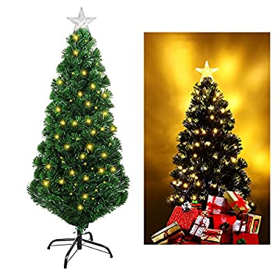 UNOMOR Fiber Optic Artificial Christmas Tree