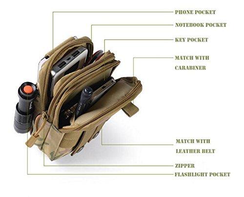 Taktische Molle Beutel Gürtel / Taille Packtasche Military Taille Fanny Telefon Tasche für Camping Travel Wandern Trekking WorldShopping4U ACU